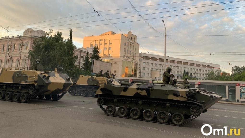 В Омске идет репетиция парада Победы
