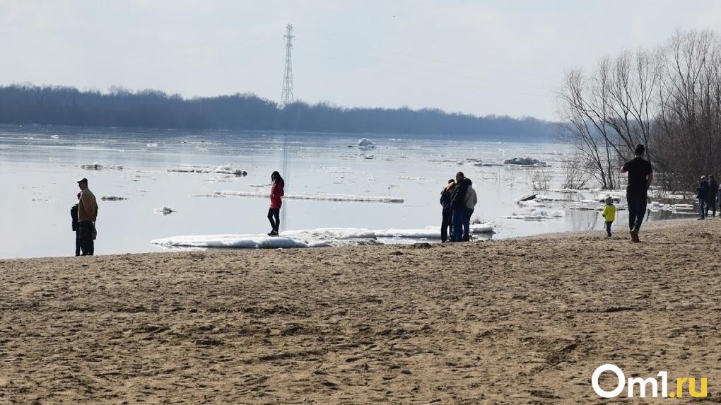 В Омской области резко поднимается уровень воды в Иртыше