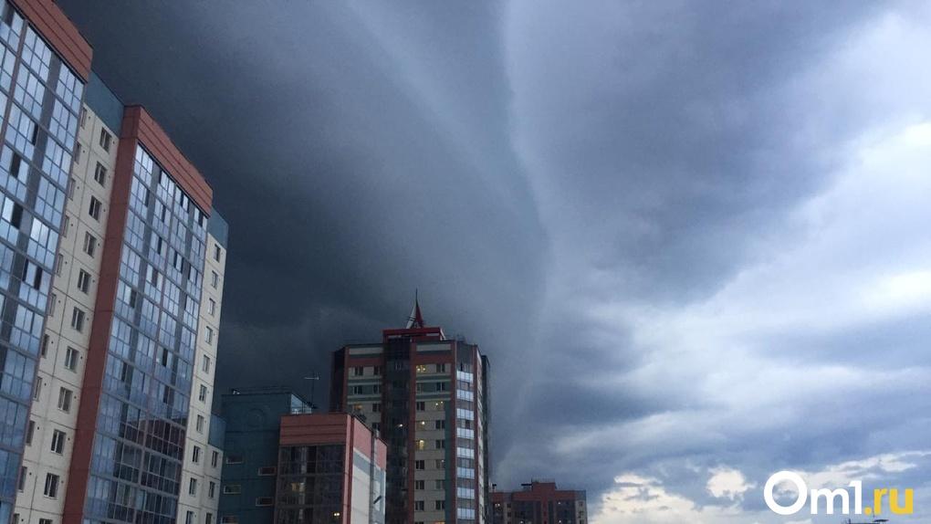 Мощный ливень с грозой надвигается на Новосибирск