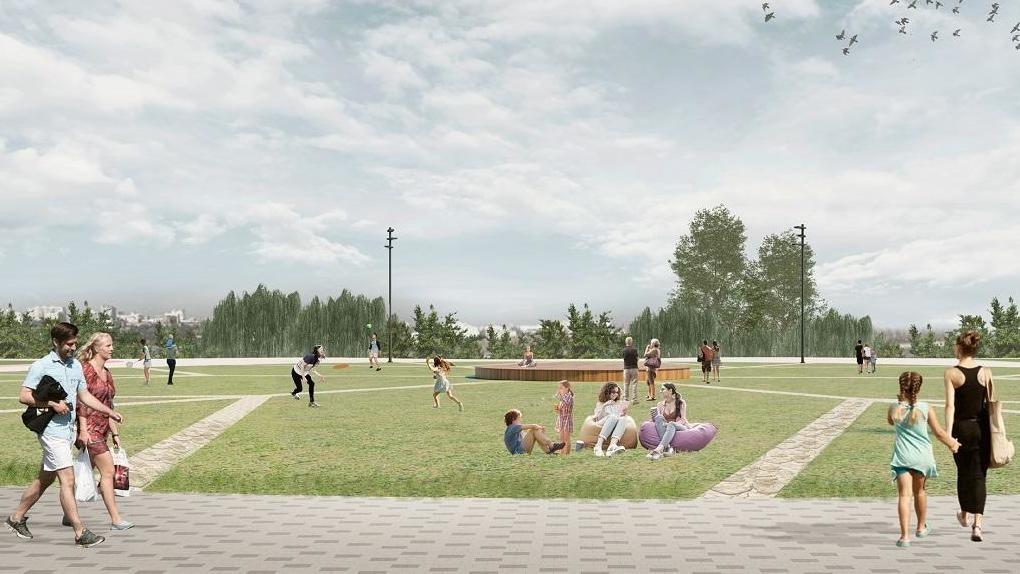 Зона скейтборда и велодорожки: рядом с новым ЛДС в Новосибирске появится спортивный парк