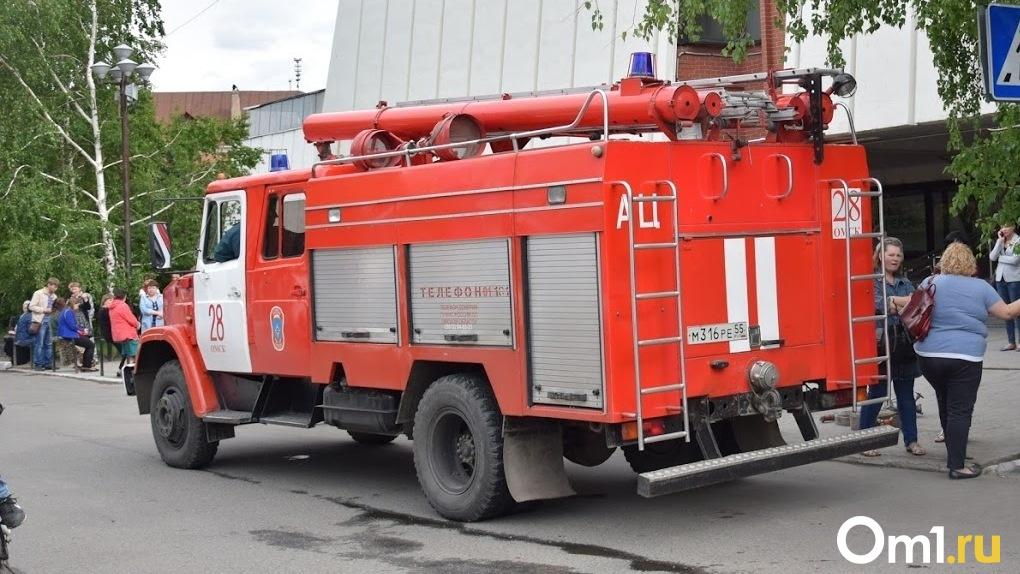 В центре Омска загорелся популярный ресторан (Видео)