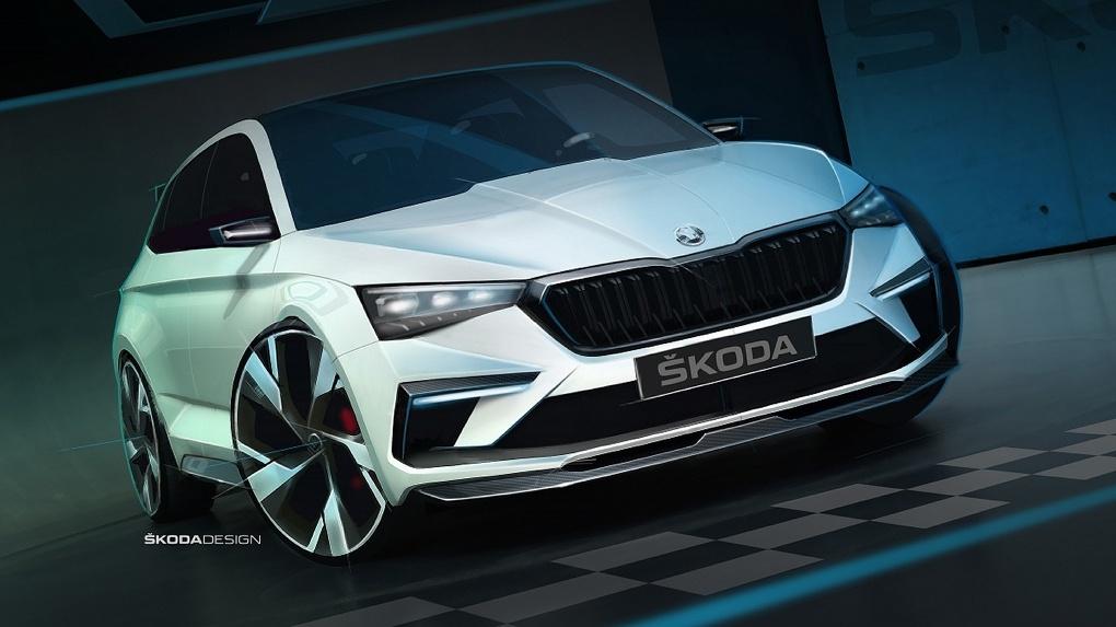 SKODA VISION RS: спортивный и экологичный концепт-кар