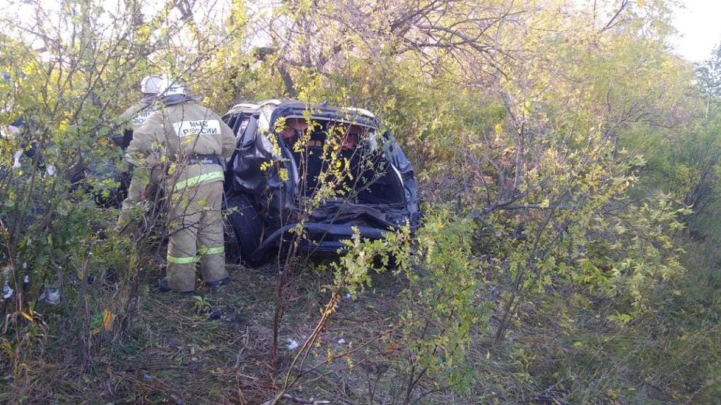 Появилось видео смертельного ДТП в Омской области, где погибли три человека