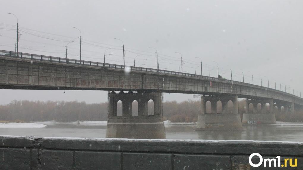 Соцсети: в центре Омска с моста в Иртыш упал человек