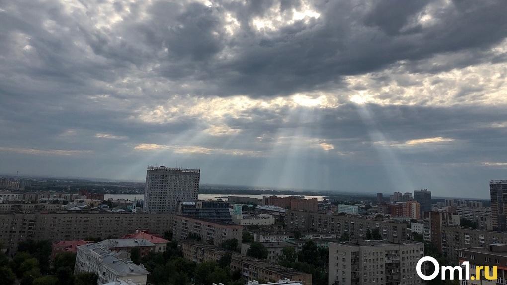 На Новосибирск надвигается гроза с ливнем