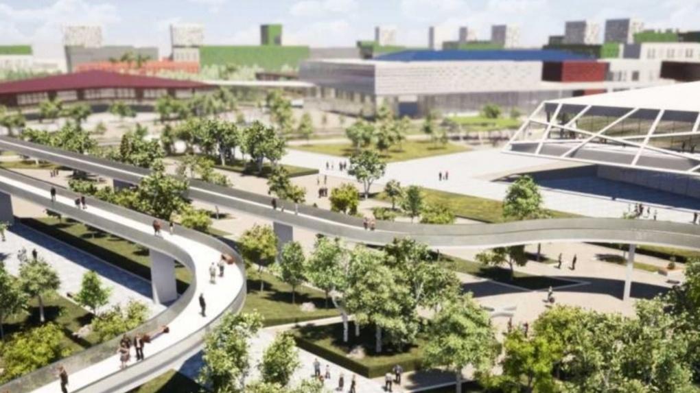 На Левобережье Омска появится футуристичный микрорайон «Зелёная Река». ФОТО