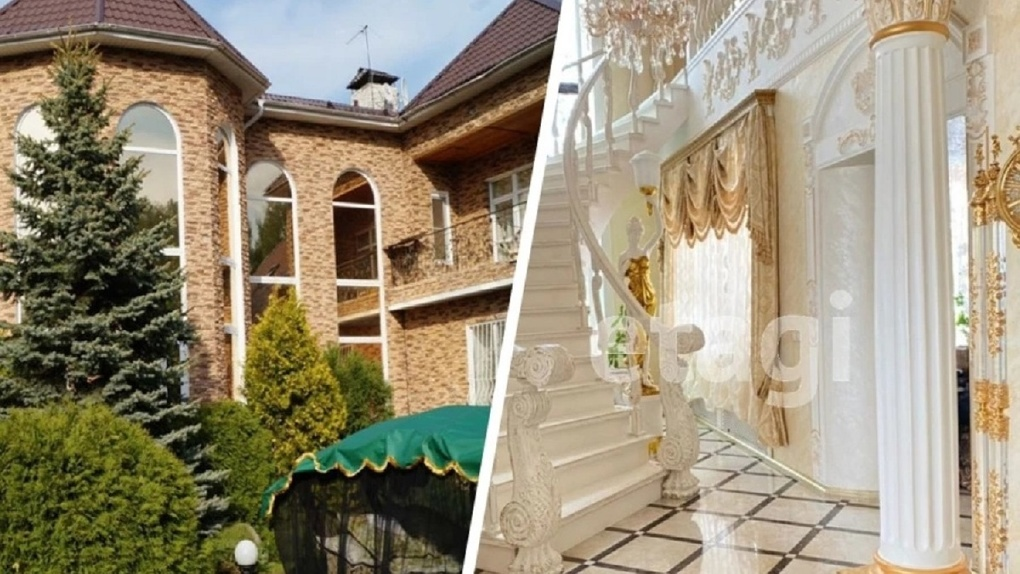 Роскошные фото: самый дорогой коттедж с садом и водопадами продают под Новосибирском