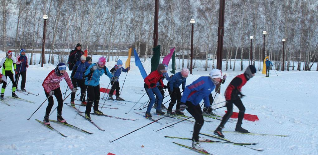 В омском парке «Птичья гавань» открыли лыжную трассу