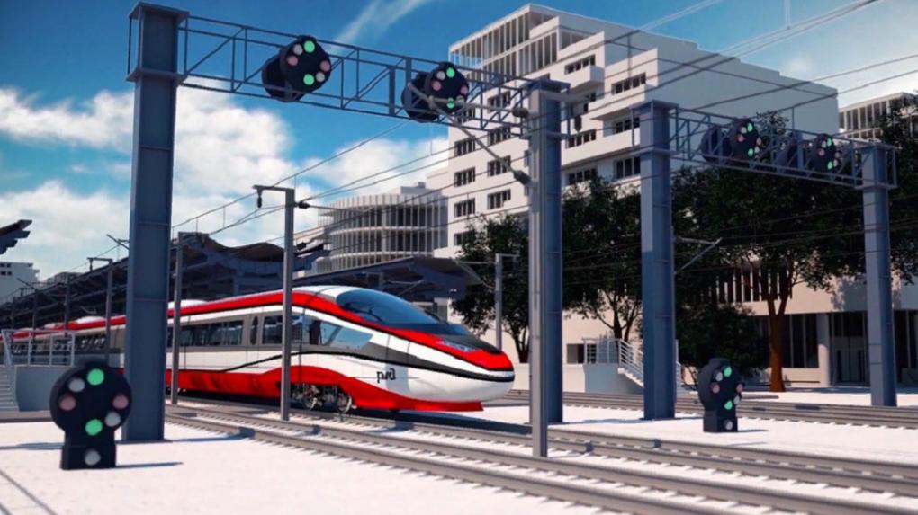РЖД представили концепт первого высокоскоростного российского поезда
