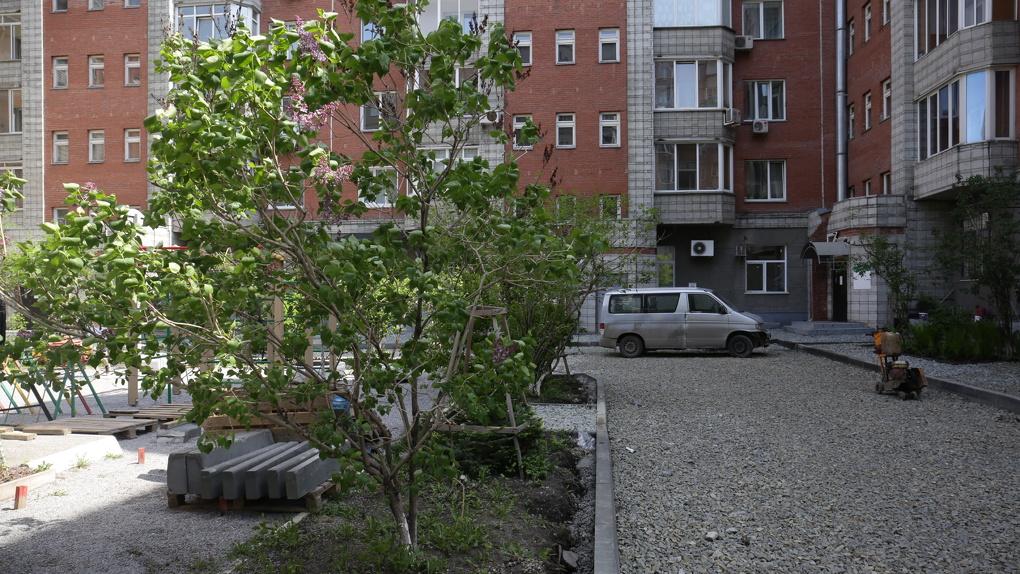 Жители дома на улице Толстого в Новосибирске «проголосовали рублём» за уютный двор