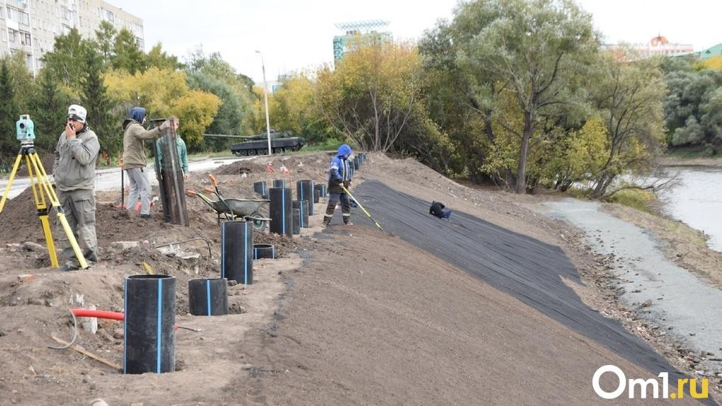 В Омске хотят построить дорогу вдоль набережной Оми