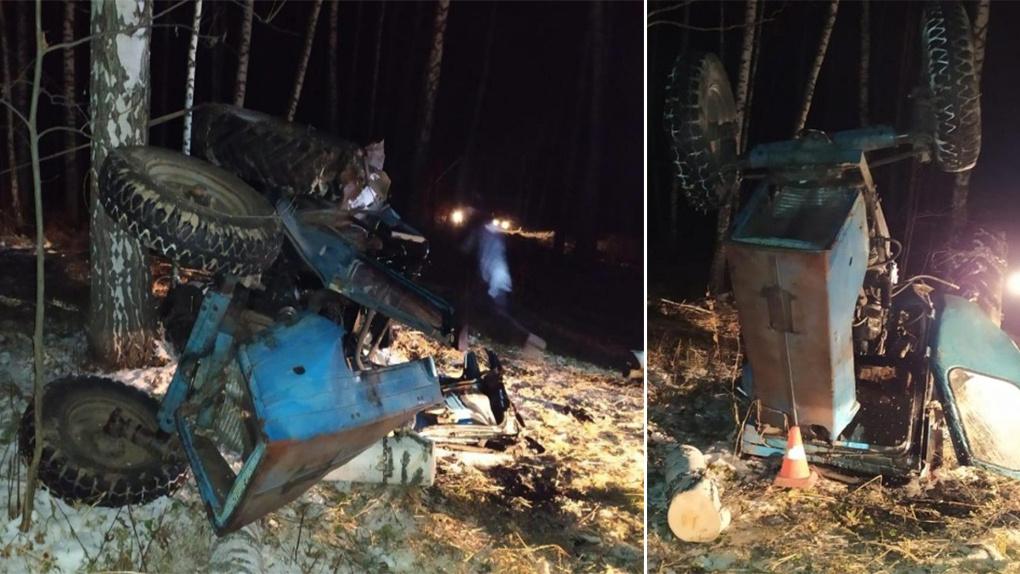 Перевернувшийся трактор насмерть придавил мужчину под Новосибирском
