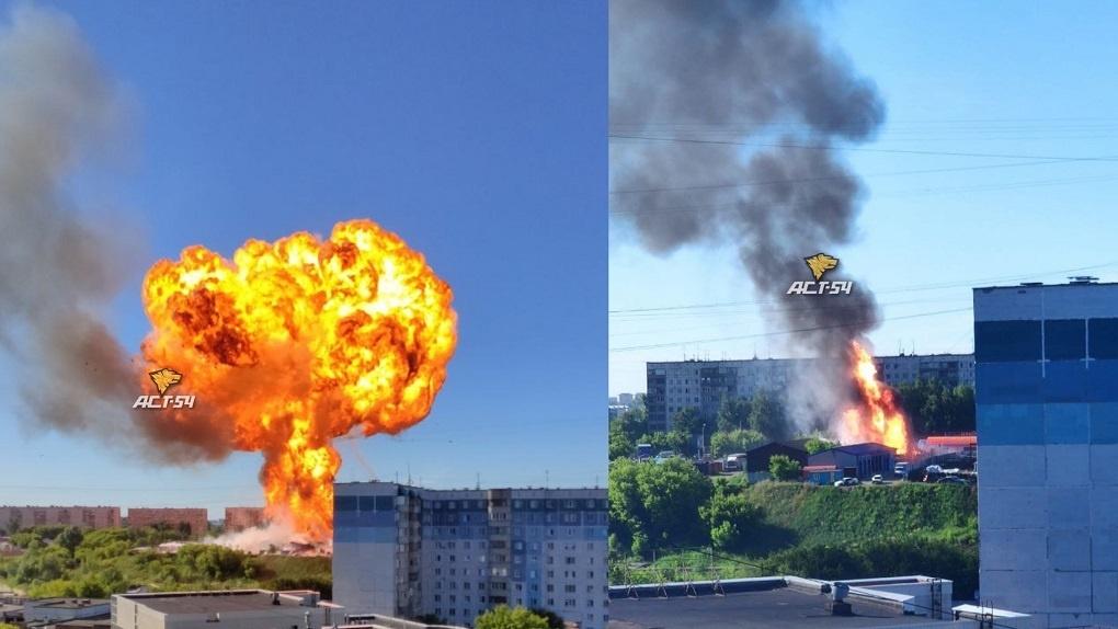 Рост числа жертв и страшное пламя: мощный взрыв прогремел на новосибирской АЗС. LIVE
