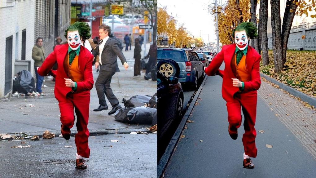 Джокер на улицах Новосибирска! Фотоподборка Om1.ru