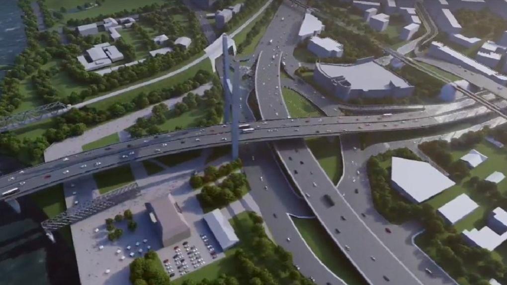Эскизы платного четвёртого моста показали в Новосибирске