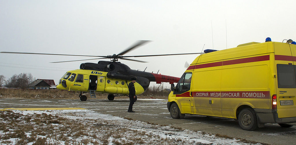 В Омск доставили вертолет, обещанный Минздравом