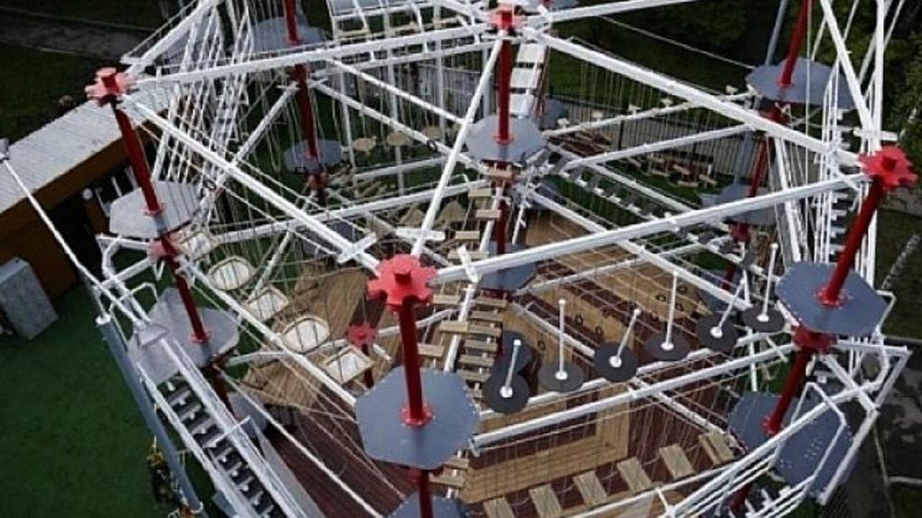 Десятиметровый верёвочный парк откроют в Новосибирске