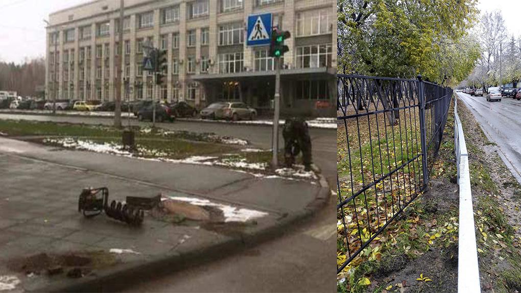 Жителей новосибирского Академгородка «канализуют» дорожными заборами