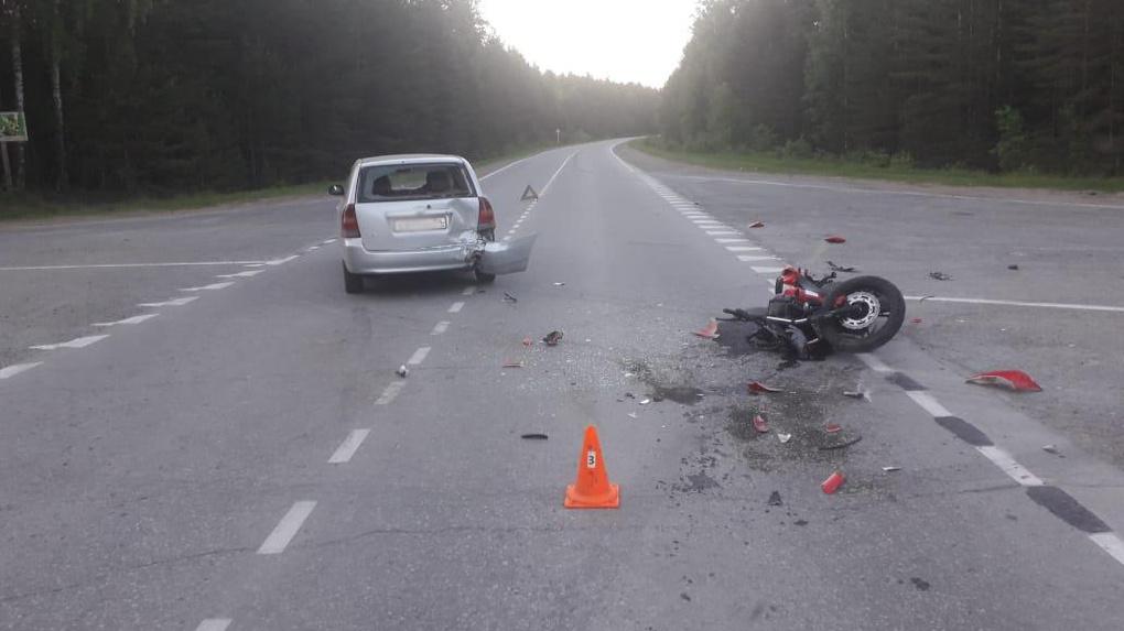 Больше 40 ДТП с мотоциклистами произошло в Новосибирской области с начала лета