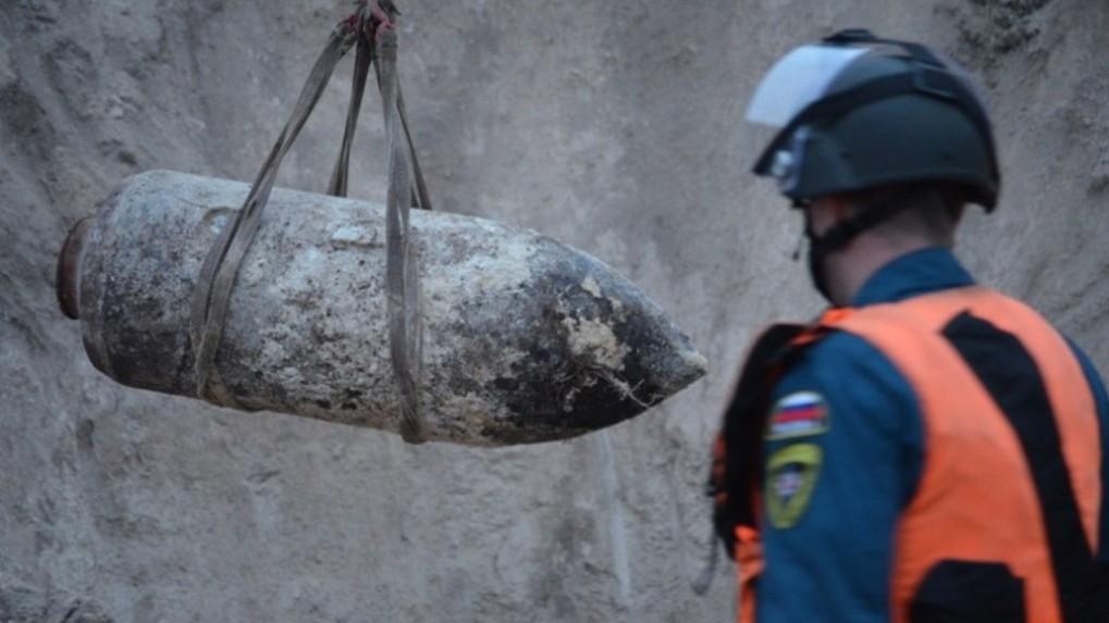 На севере Омской области в городе Таре нашли авиационную бомбу
