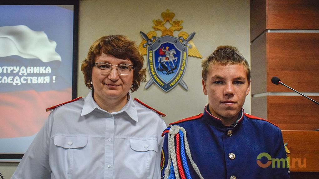 За спасение утонувшего мальчика омского кадета наградили грамотой и памятным подарком