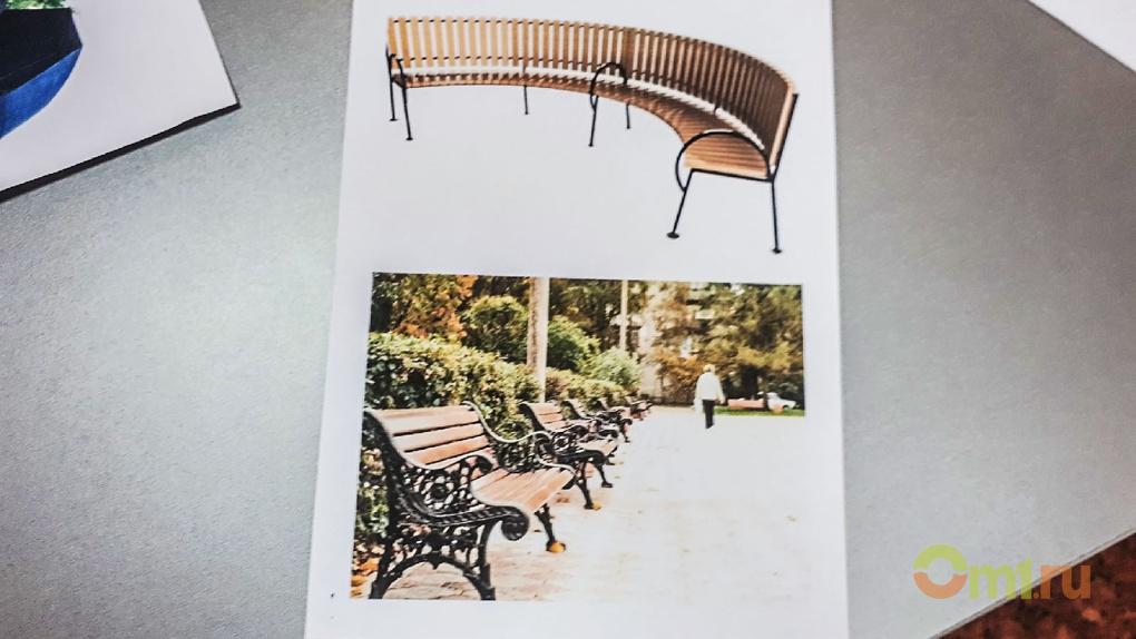 В омской колонии изготовят скамейки для сквера Молодоженов