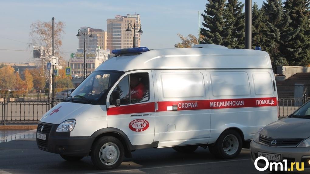 Из-за неаккуратного водителя в Омске в больницу попали двое маленьких детей
