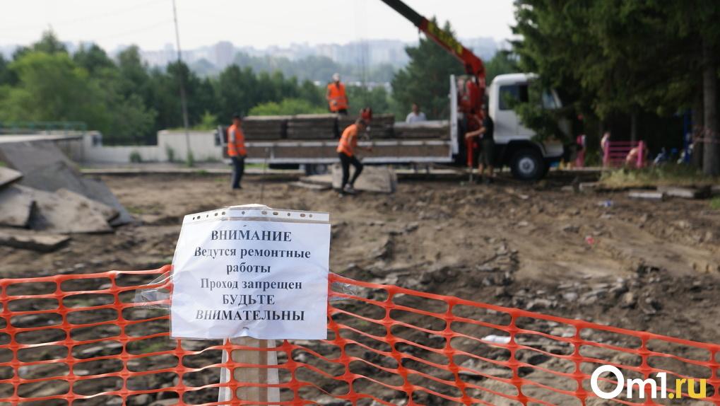 Сухой фонтан и велодорожки: как меняется Советский парк в Омске (Фоторепортаж)