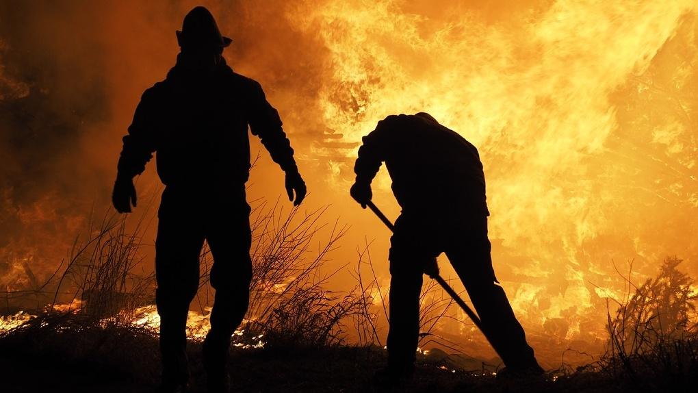 Новосибирские пожарные вытащили 23 человека из пылающего дома