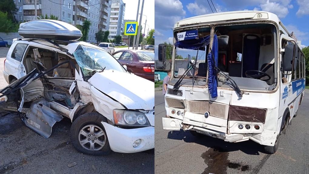 В ДТП с автобусом в Омске пострадал ребёнок. ВИДЕО