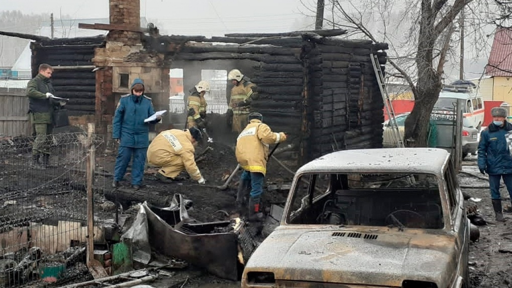 Замыкание электропроводки стало причиной пожара, в котором погибли четыре человека под Новосибирском