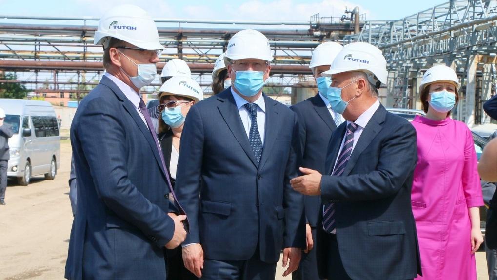 Губернатор осмотрел особую экономическую зону в Омске, где будут располагаться новые производства