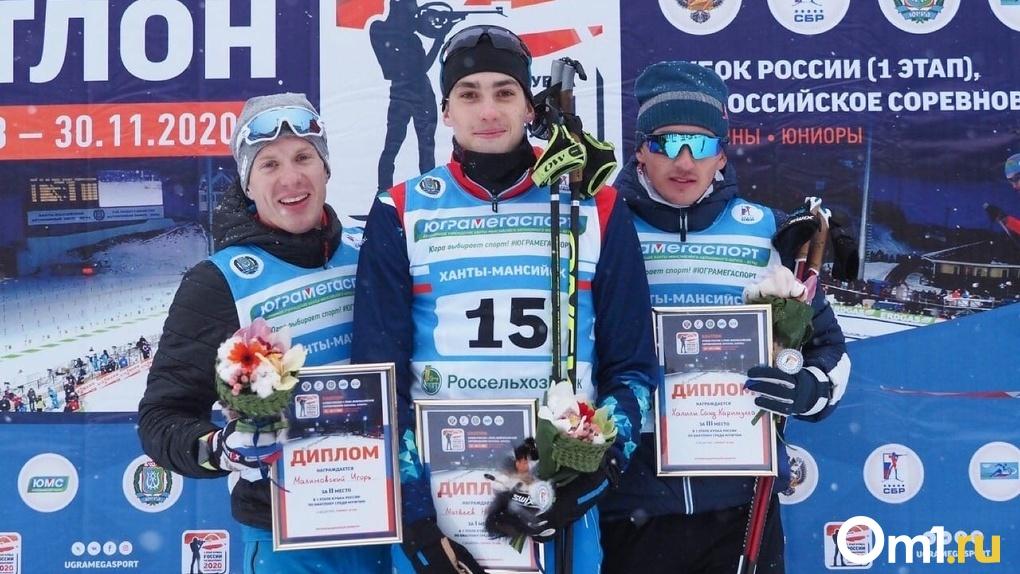Омич завоевал «серебро» на Кубке России по биатлону