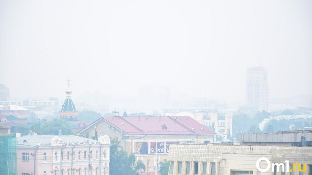 Специалисты рассказали, почему Омск затянуло густым смогом