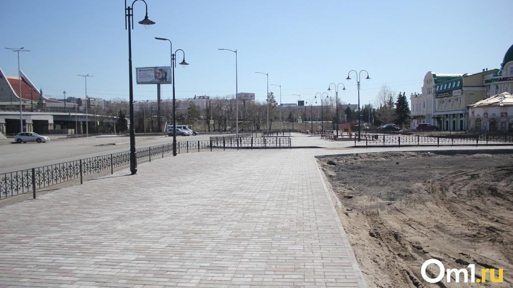 С опустевших омских улиц тоннами вывозится пыль и грязь