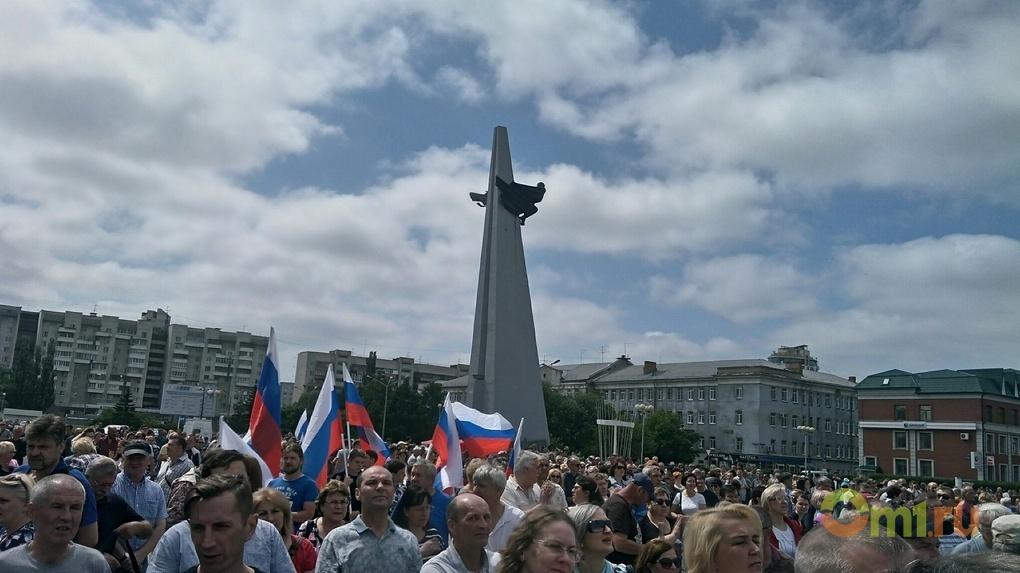 В Омске состоялся очередной протест против пенсионной реформы