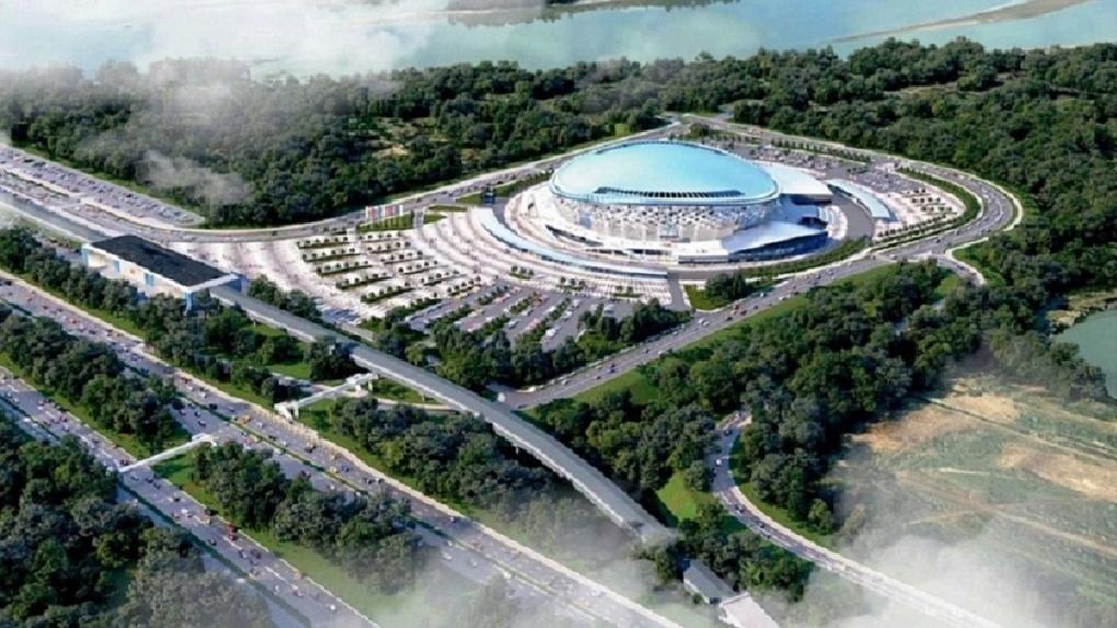 Парк за 400 млн рублей построят рядом с новым ЛДС в Новосибирске