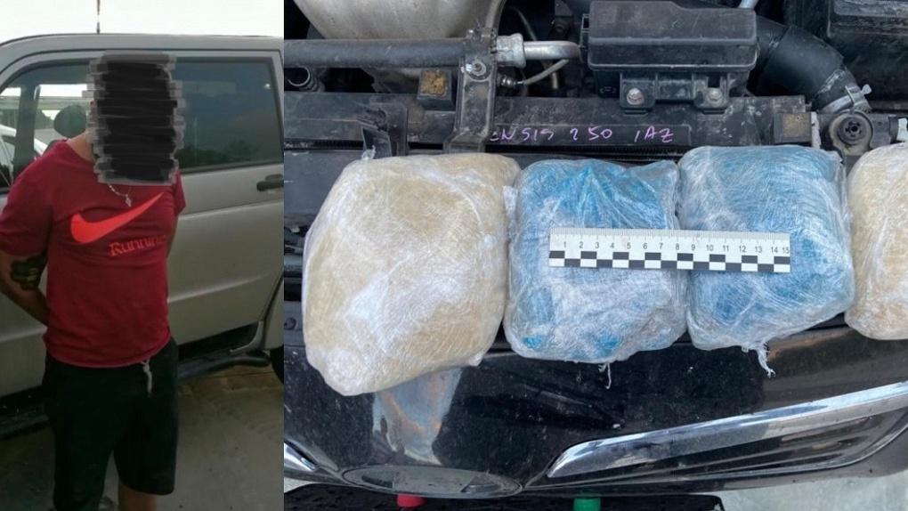 Наркотики в капоте: новосибирские полицейские поймали наркодилера с двумя килограммами «синтетики»