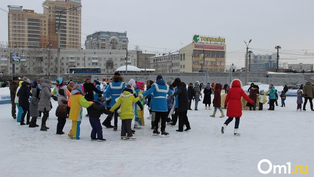 В Омске скоро откроют большие ледовые площадки для массового катания