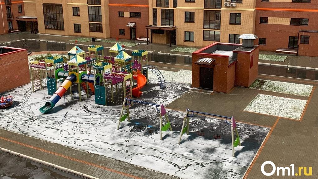В Новосибирске лёг первый снег: горожане выкладывают фото в соцсети