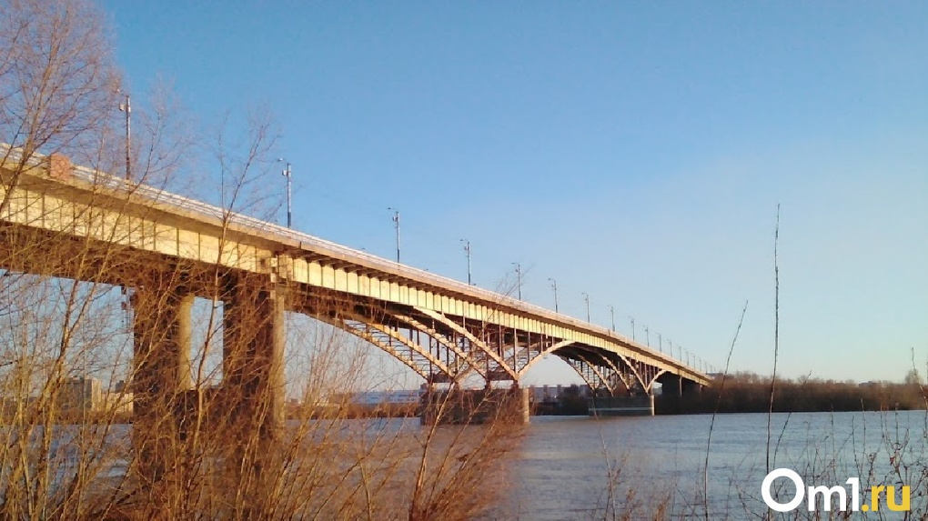 В Омске неизвестный упал с моста в Иртыш