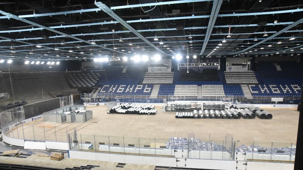 После ремонта ЛДС «Сибирь» будет соответствовать современным требованиям IIHF и Федерации хоккея России