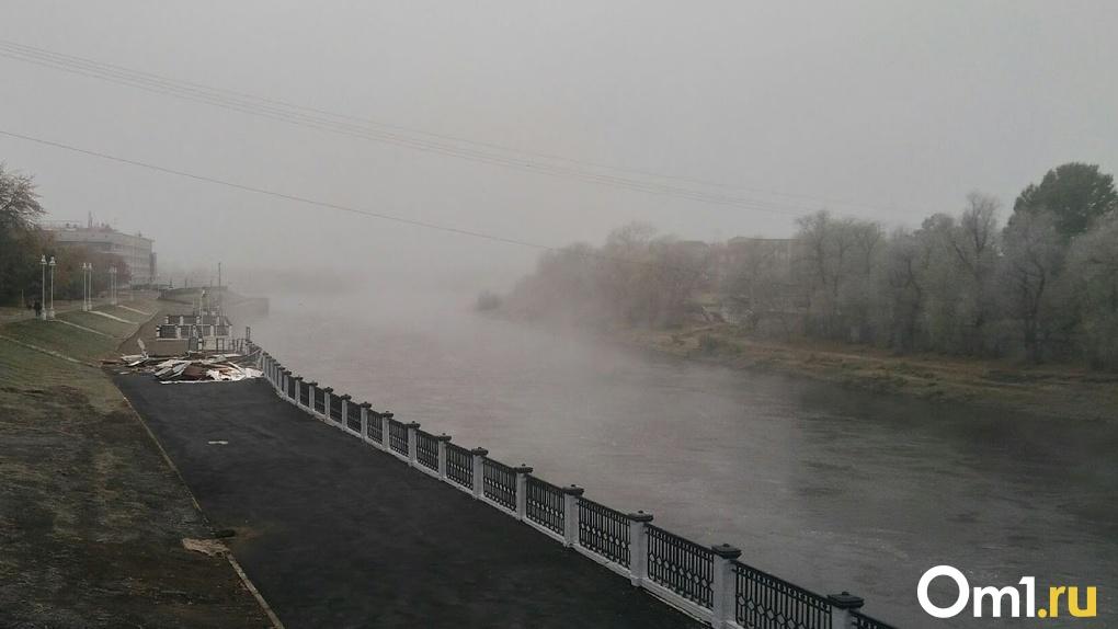 Первые дни октября в Омске будут туманными и ветреными