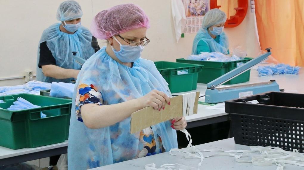 В Новосибирске запустили новое производство гигиенических масок