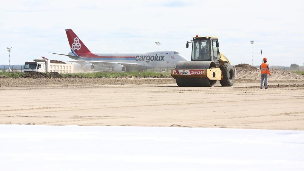 В новосибирском аэропорту Толмачево строят новую «парковку» для самолетов