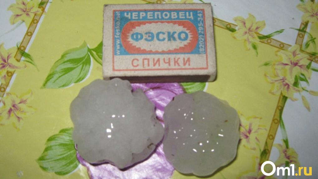 В Новосибирской области ударил град размером с грецкий орех
