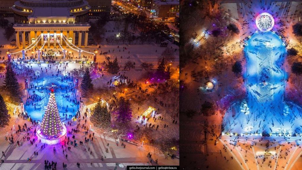 Вся страна смеется над фотографией ледового городка в Новосибирске