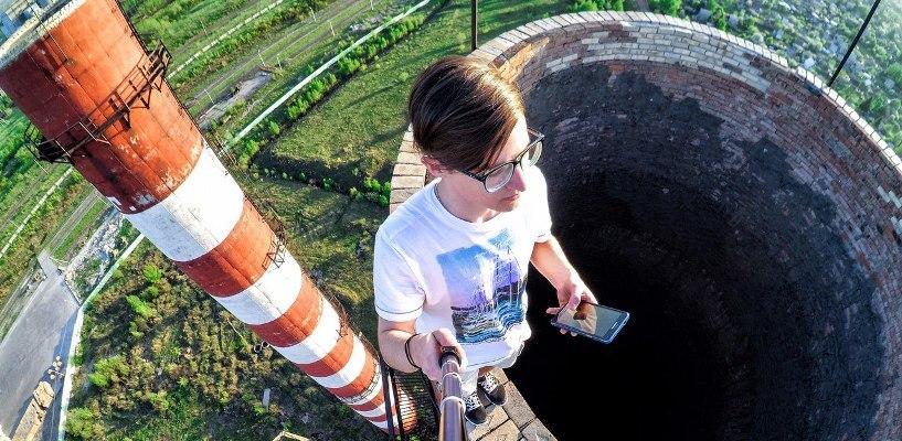 Омский руфер Даниил Притуляков залез на крышу многоэтажки в Адлере (ВИДЕО)