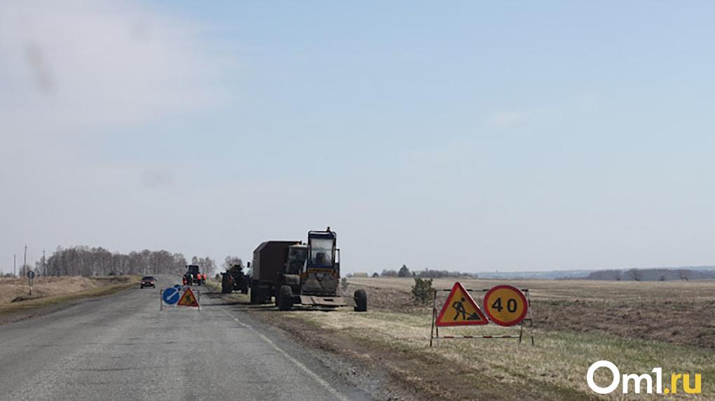 В Омске досрочно начали ремонтировать дорогу Тюкалинск — Большие Уки
