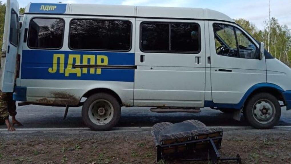 В Новосибирской области обстреляли автомобиль партии Жириновского